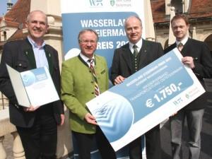 Hohe Auszeichnung: Die Wasserverband Transportleitung Oststeiermark siegte beim Wasserland Steiermark Preis 2012!
